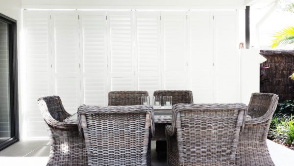 Cane Chairs, Out doors, Shutters