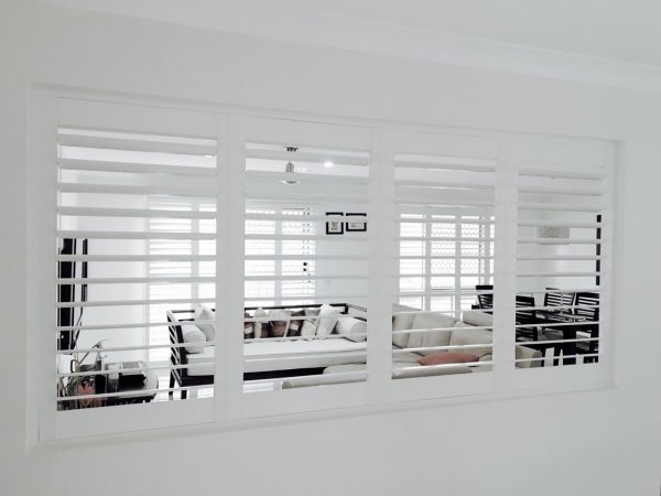 Polyshield Shutters for cosmetic wall