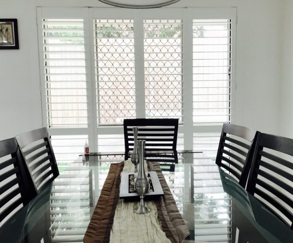 Polyshield Shutters in dining
