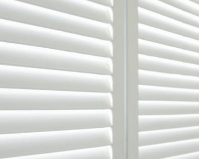 close up of white shutters