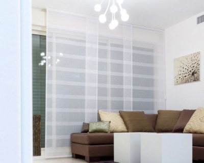 panel blinds in a home