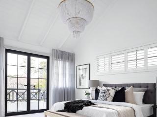 shutters in bedroom